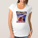 Vintage Worlds Fair New York 1939 Poster Maternity T-Shirt