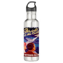 Vintage Worlds Fair New York 1939 Poster Stainless Steel Water Bottle