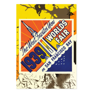 Vintage Worlds Fair Poster Business Card