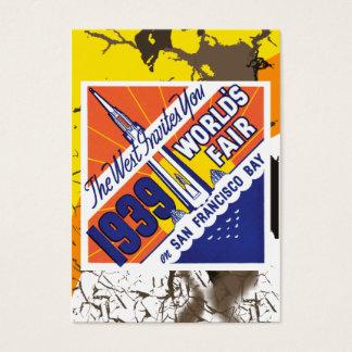 Vintage Worlds Fair Poster Business Card