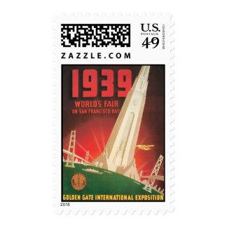 Vintage World's Fair San Francisco CA Postage Stamp