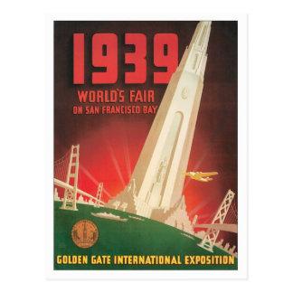 Vintage World's Fair San Francisco Postcard