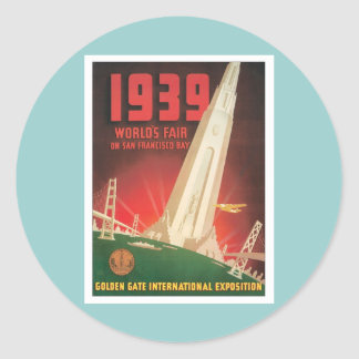 Vintage World's Fair San Francisco Stickers