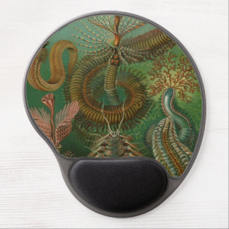Vintage Worms Annelids Chaetopoda by Ernst Haeckel Gel Mouse Pad
