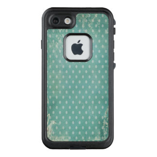 Vintage Worn Abused Turquoise Wallpaper LifeProof FRĒ iPhone 7 Case