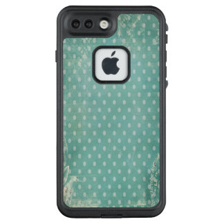 Vintage Worn Abused Turquoise Wallpaper LifeProof FRĒ iPhone 7 Plus Case