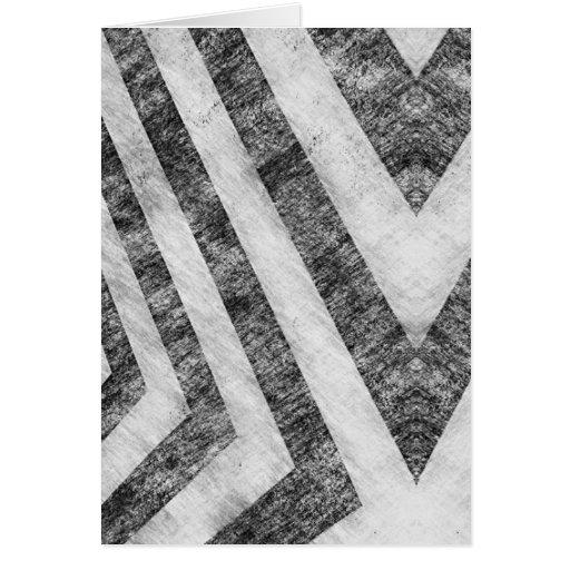 Vintage Worn Hazard Stripes Textured Card