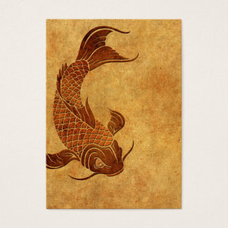 Vintage Worn Koi Fish Design Business Card