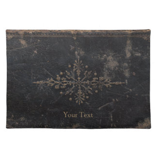 Vintage Worn Leather Book Placemat