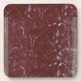 Vintage Worn Red Notebook Cover Beverage Coaster