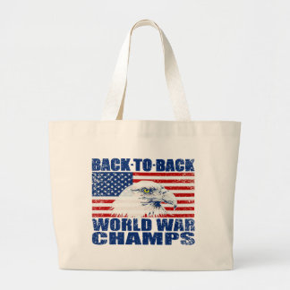 Vintage Worn World War Champs Eagle US Flag Canvas Bags