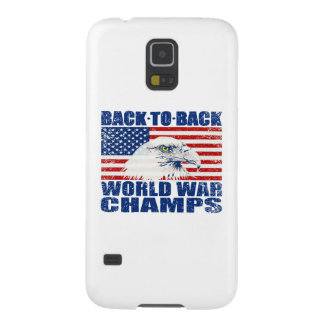 Vintage Worn World War Champs Eagle & US Flag Case For Galaxy S5