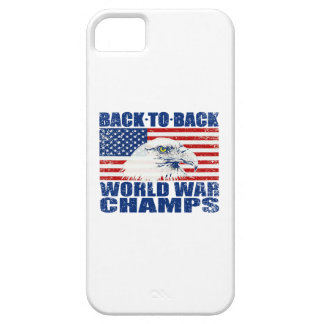 Vintage Worn World War Champs Eagle & US Flag iPhone 5 Covers