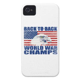 Vintage Worn World War Champs Eagle & US Flag iPhone 4 Case