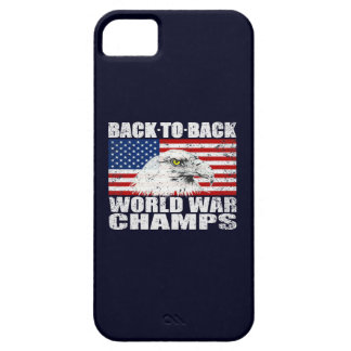 Vintage Worn World War Champs Eagle & US Flag iPhone 5 Cover