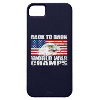 Vintage Worn World War Champs Eagle & US Flag iPhone 5 Cover