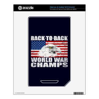 Vintage Worn World War Champs Eagle & US Flag Decal For The NOOK Color