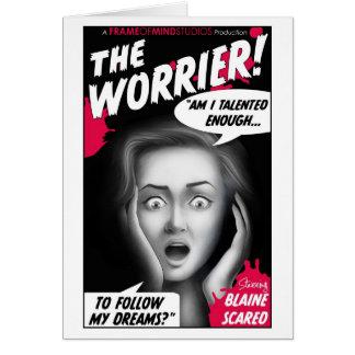 vintage-Worrierposter Card