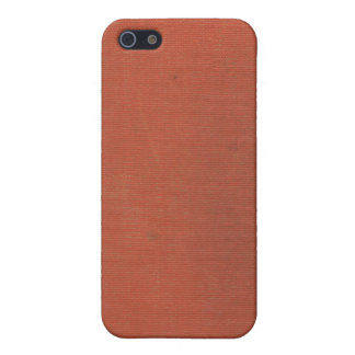 Vintage Woven Coral Book Cover 2 iPhone 4 Case