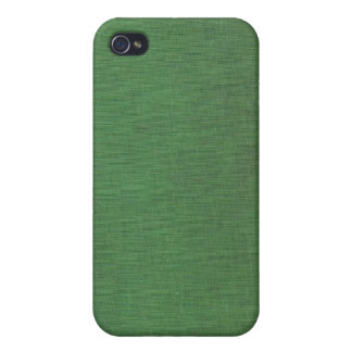 Vintage Woven Green Book Cover iPhone 4 Case