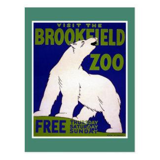 Vintage WPA del parque zoológico de Brookfield de Postales