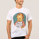 Vintage WPA Don't Kiss Me Baby T-Shirt