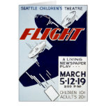 Vintage WPA Federal Theatre Project Flight