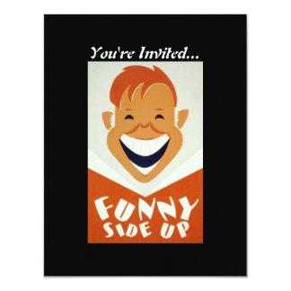 Vintage WPA Funny Side Up Poster Card