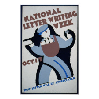 Vintage WPA: Letter Writing Posters