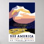"""""""Vintage WPA Montana Poster 3"""""""