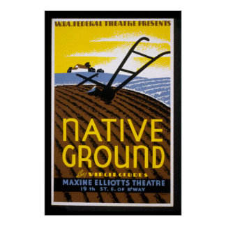 Vintage WPA Native Ground Poster Print