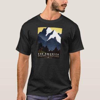Vintage WPA See America Montana Poster T-Shirt
