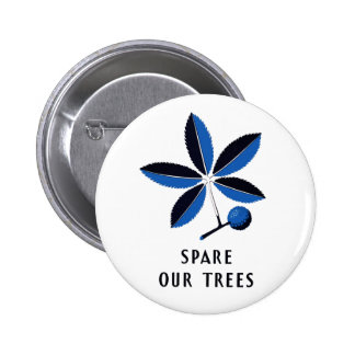 Vintage WPA - Spare Our Trees | Button