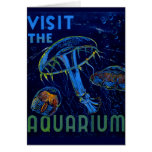 Vintage WPA Visit The Aquarium Poster Card