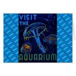 Vintage WPA Visit The Aquarium Poster Card