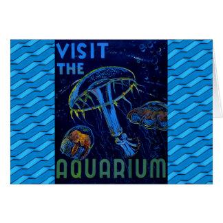 Vintage WPA Visit The Aquarium Poster Greeting Card