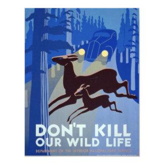 Vintage WPA Wildlife Conservation Poster Card