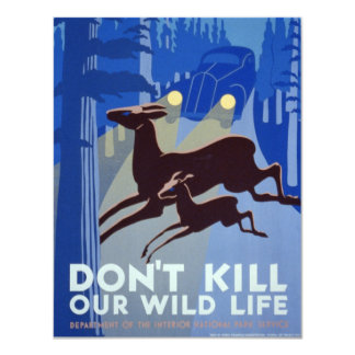 Vintage WPA | Wildlife Conservation Poster Card