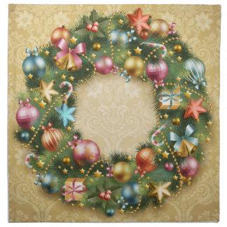 Vintage Wreath Printed Napkin