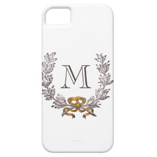 Vintage Wreath Personalized Monogram Initial iPhone 5 Covers