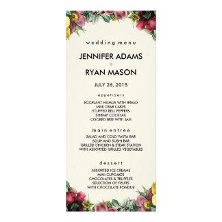 Vintage Wreath | Wedding Menu Cards