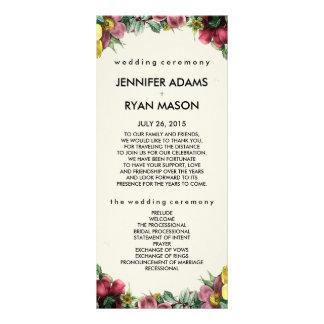Vintage Wreath | Wedding Program Cards Custom Rack Cards