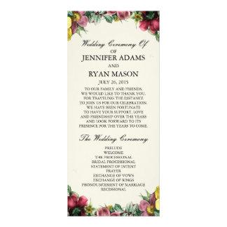 Vintage Wreath | Wedding Program Rack Cards