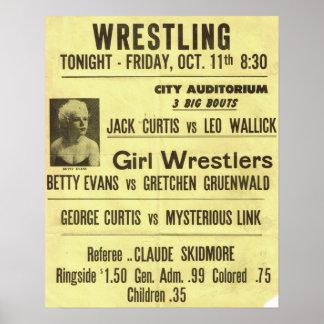 Vintage Wrestling Poster Series