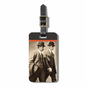takeme4aride VINTAGE WRIGHT BROTHERS AIRPLANE LUGGAGE NAME TAG