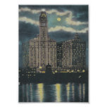Vintage Wrigley Building Chicago Poster