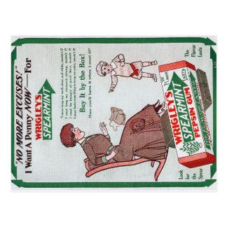 Vintage Wrigley's Gum Ad Postcard