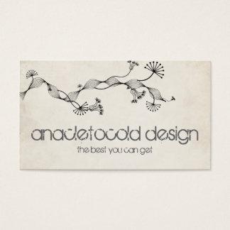 vintage wrinkled old paper business card