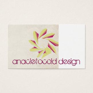vintage wrinkled old paper pink flowers business card