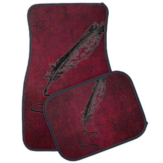 Vintage Writer's Feather Quill Car Mat